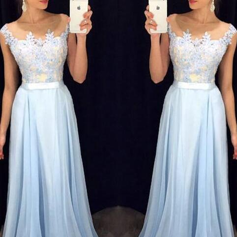 Light Blue Prom Dress, Lace Prom Dress, A Line Prom Dress, Tulle Prom Gown, Off Shoulder Prom Dress, Cheap Formal Dress, Party Dresses 2017