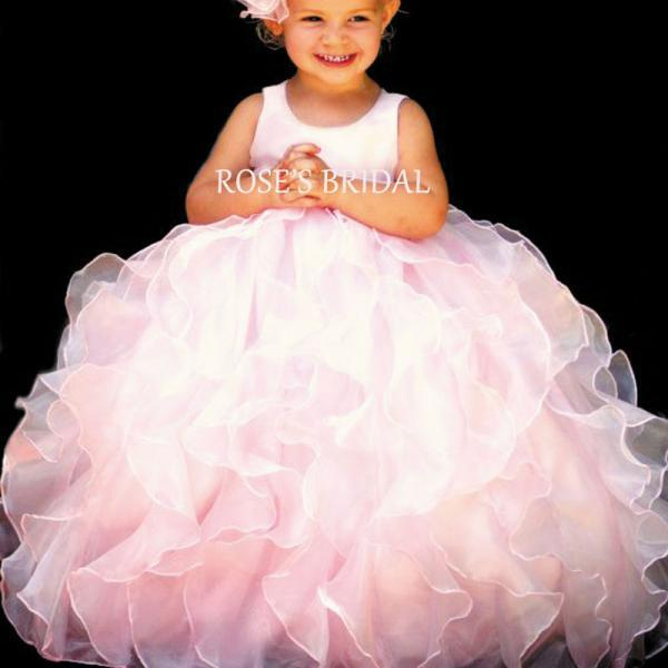 Pink Flower Girl Dresses, Little Girl Flower Girl Dress, Toddler Little Girl Dresses, Cupcake Pageant Dress, Tiered Flower Girl Dresses, Ball Gowns For Little Girl