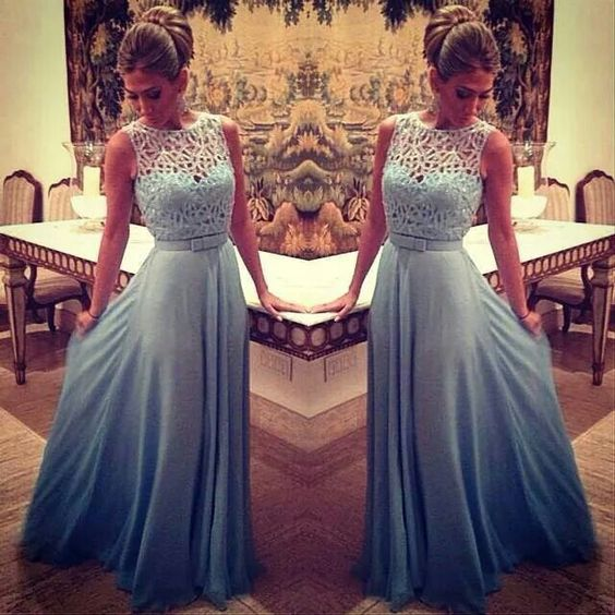 Blue Prom Dresses, A Line Prom Dresses, Chiffon Prom Dresses, Peals Prom Dresses, Elegant Prom Dress, Off Shoulder Prom Dress, Floor Length Prom Dress