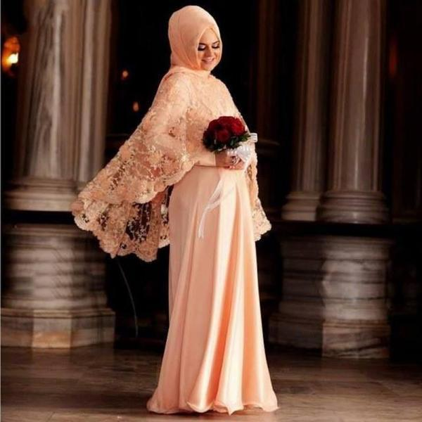 Champagne Prom Dress, Hijab Prom Dress, Middle East Prom Dress, Lace Prom Dress, 2017 Prom Dresses, Chiffon Prom Dress, Dubai Caftan, Elegant Prom Dress, 2 Piece Prom Dresses, Vestido De Festa