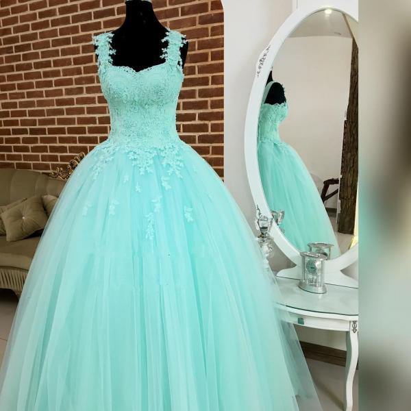 Turquoise Blue Prom Dress, Elegant Prom Dress, Tulle Prom Dress, Vestido De Gala, Boho Prom Dress, Off Shoulder Prom Dress, Prom Ball Gown, Evening Dresses 2017, Vestido De Festa, Floor Length Prom Dress